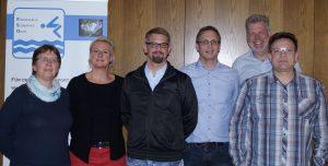Bild von links nach rechts: Carola Oen (Beisitzer), Jutta Jassmeier-Grieß (Beisitzer), Nils Brüggemann (Kassenwart), Arno Zurbrüggen (1. Vorsitzender), Martin Griess (Beisitzer), Rainer Hoyer (2. Vorsitzender)